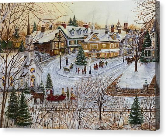 A Christmas Village Canvas Print