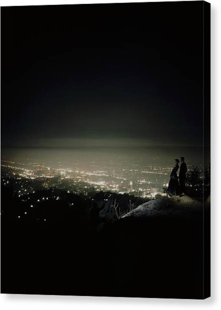 A City At Night Canvas Print