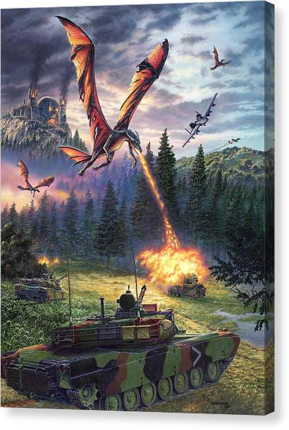 Tanks Canvas Print - A Clash Of Worlds by Stu Shepherd