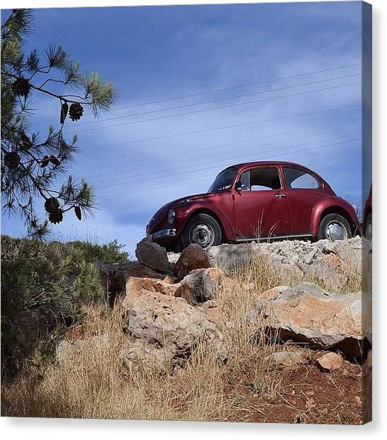 Palestinian Canvas Print - A Classic #car Perched On The Edge Of A by Martin Rix