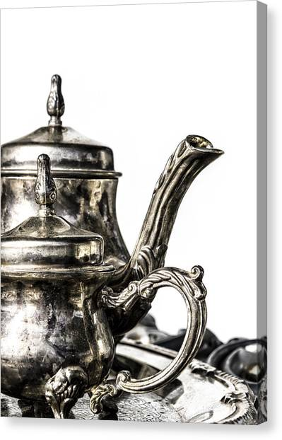 Tea Set Canvas Print - A Classy Tea by Caitlyn  Grasso