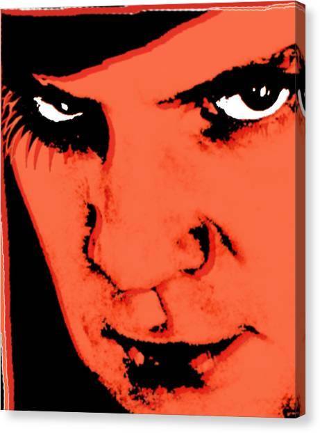 Clockwork Orange Canvas Print - A Clockwork Orange Malcolm Mcdowell by Tony Rubino