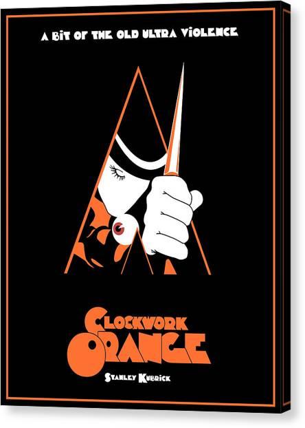 Clockwork Orange Canvas Print - A Clockwork Orange Movie Poster by Finlay McNevin
