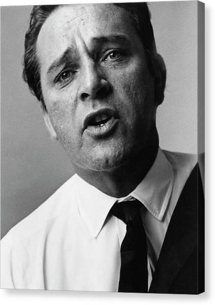 A Close-up Of Richard Burton Canvas Print by Bert Stern