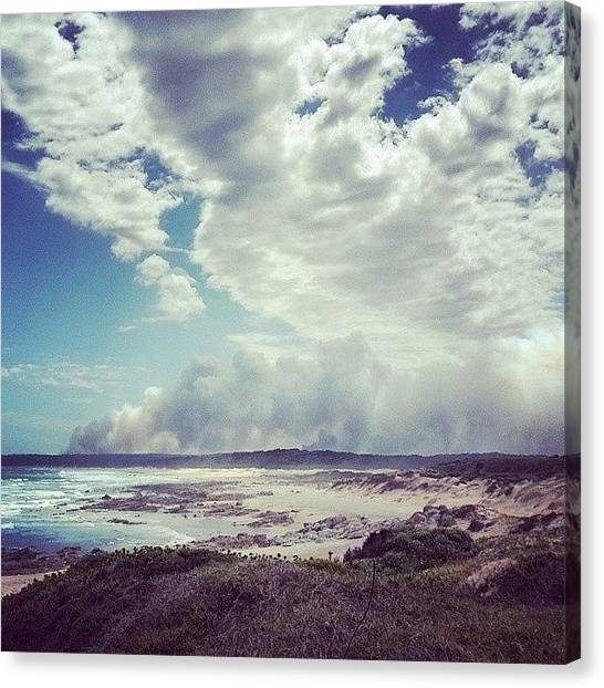 South African Canvas Print - A Cloud Of Smoke by Kody McGregor