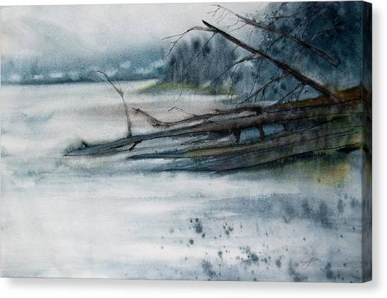 A Cold And Foggy View Canvas Print