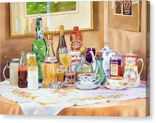 Coca Cola Canvas Print - A Collection Of Drinks by Mary Helmreich