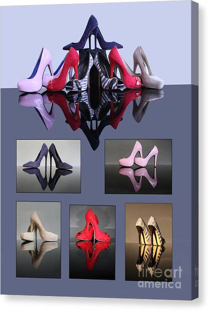A Collection Of Stiletto Shoes Canvas Print