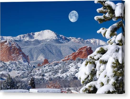 A Colorado Christmas Canvas Print