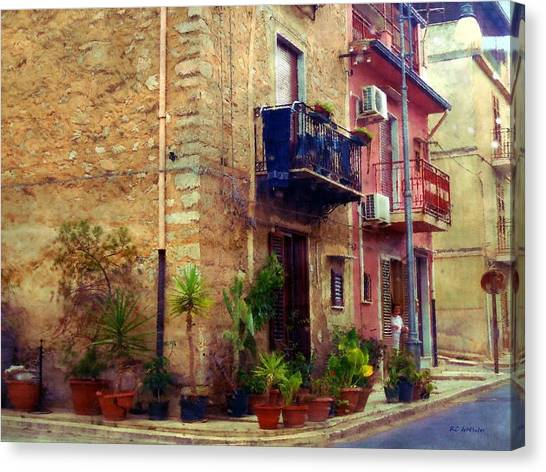 A Corner In Sicily Canvas Print
