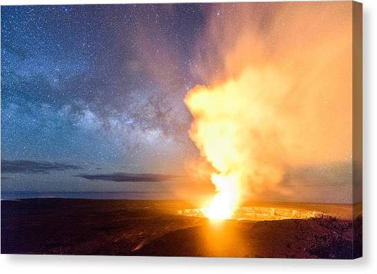 A Cosmic Fire Canvas Print