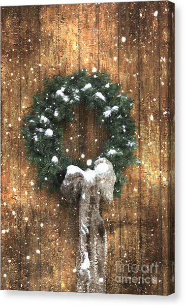 A Country Christmas Canvas Print
