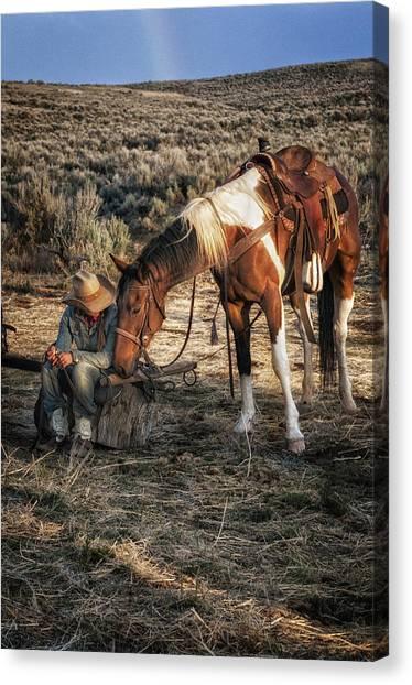 A Cowgirls Best Friend Canvas Print