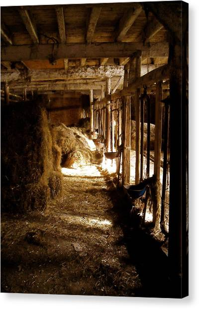 A Cozy Barn Canvas Print