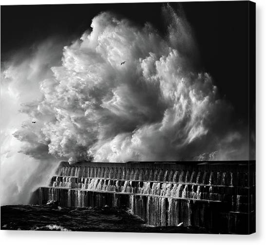 Waterfalls Canvas Print - A Crashing Wave by Maciej Hermann