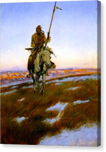 A Cree Indian Canvas Print