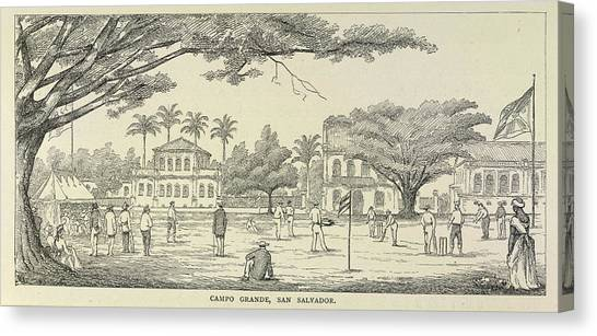 Crickets Canvas Print - A Cricket Match by British Library