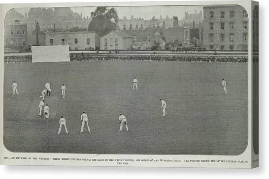Crickets Canvas Print - A Cricket Match In A City by British Library