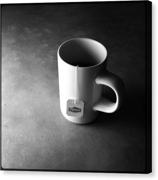 Iced Tea Canvas Print - A Cup Of Tea At Night I by Marco Oliveira