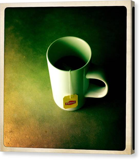 Iced Tea Canvas Print - A Cup Of Tea At Night II by Marco Oliveira