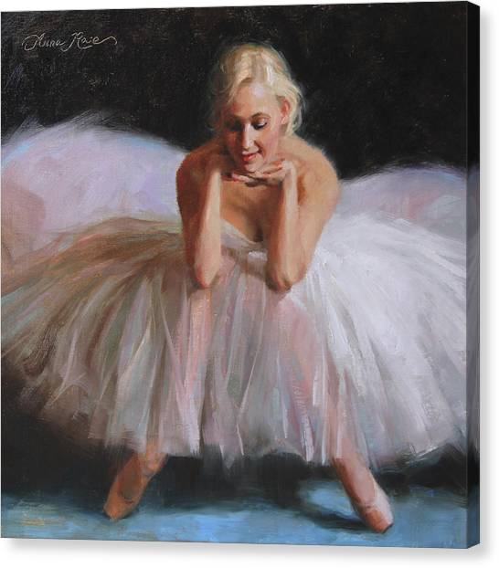 Ballet Canvas Print - A Dancer's Ode To Marilyn by Anna Rose Bain