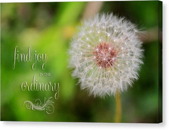 A Dandy Dandelion With Message Canvas Print