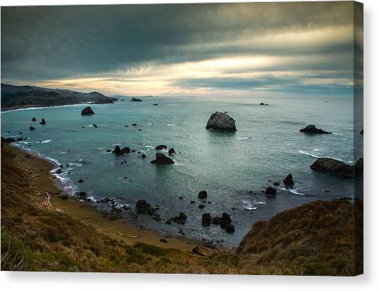 A Dark Day At Sea Canvas Print