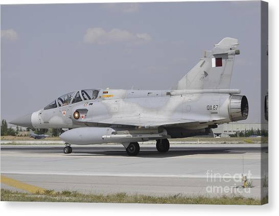 Emir Canvas Print - A Dassault Mirage 2000-5dda by Giorgio Ciarini