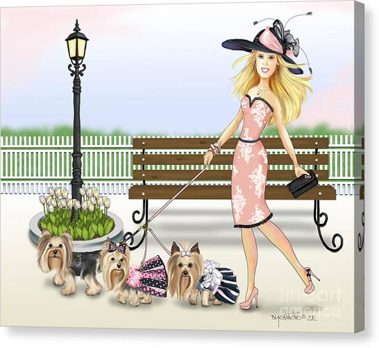 A Day At The Derby Canvas Print