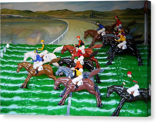 A Day At The Races Canvas Print