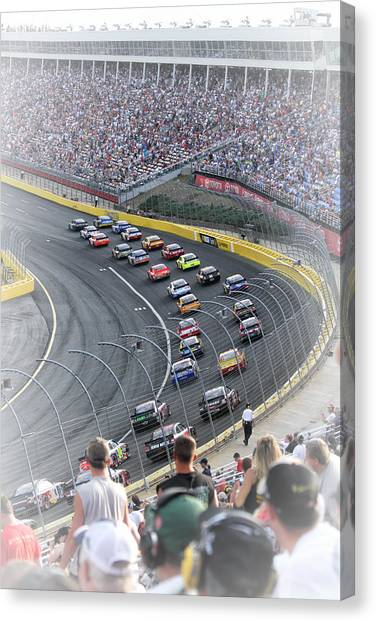 A Day At The Racetrack Canvas Print