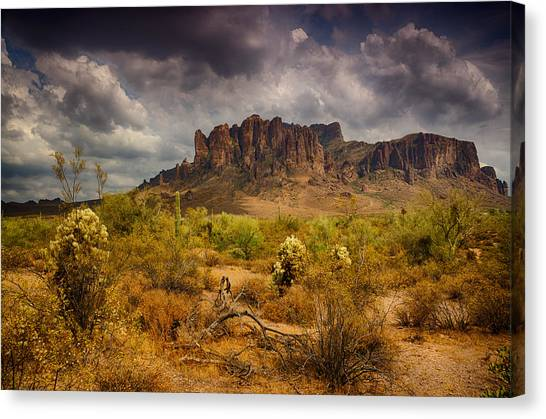 A Day At The Superstitions  Canvas Print