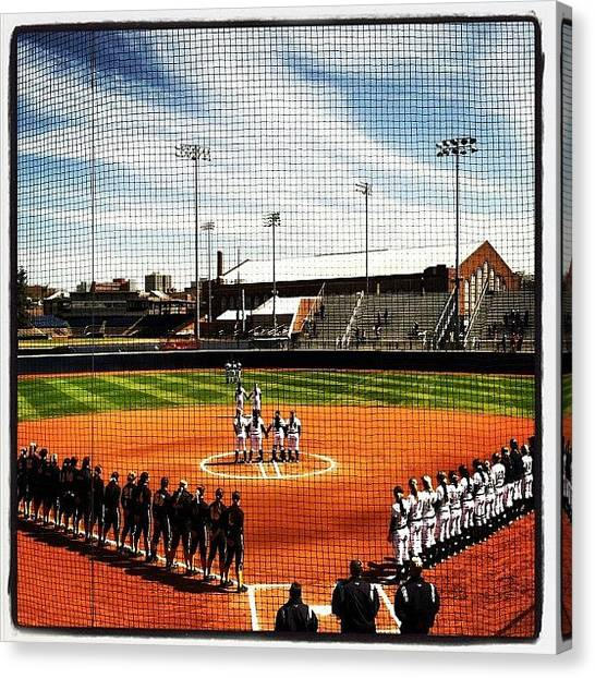 Softball Canvas Print - A Day In Ann Arbor To Show Some Love by Emily Waldon