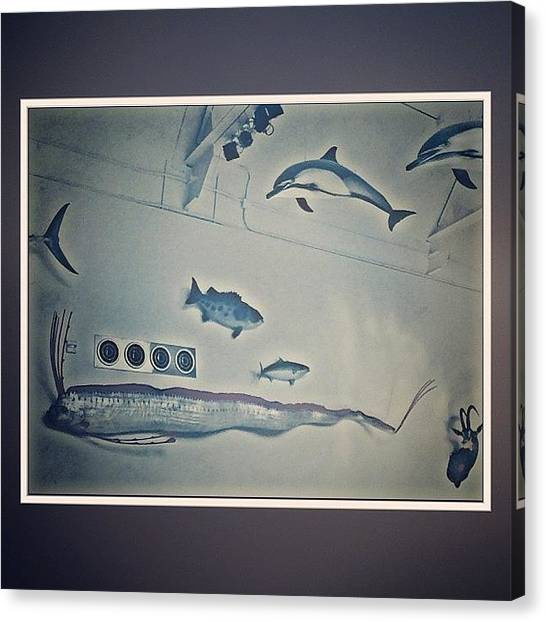Dolphins Canvas Print - A Day In The Museum  #2012 by David S Chang