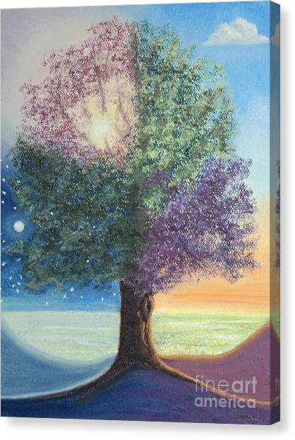 A Day In The Tree Of Life Canvas Print