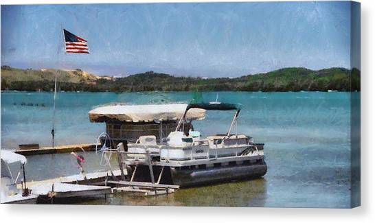 Pontoon Canvas Print - A Day On The Lake by Dan Sproul
