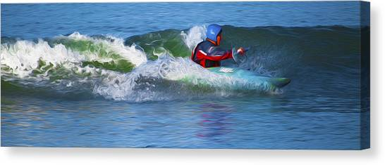A Day Out With The Kayak. Canvas Print