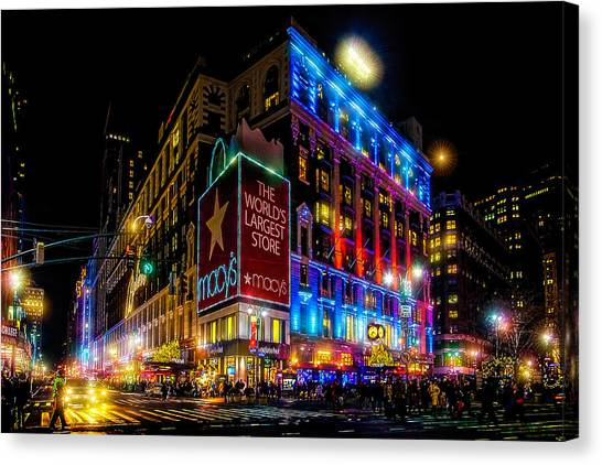 A December Evening At Macy's  Canvas Print