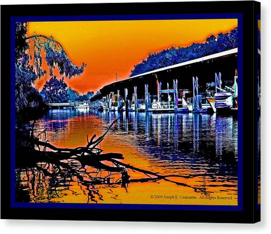 A Delta Sunset  Canvas Print
