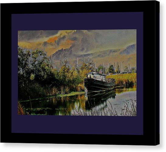 A Delta Tug Forgotten Canvas Print