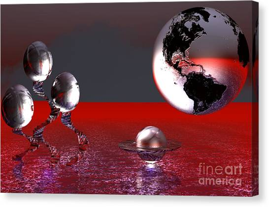 A Different World Canvas Print