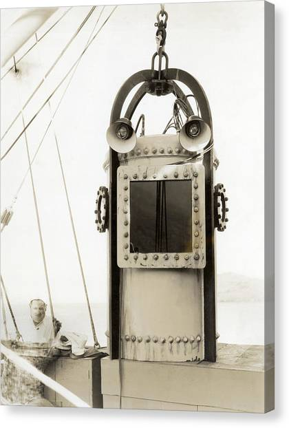 Diving Bell Canvas Print - A Diving Bell by Underwood Archives
