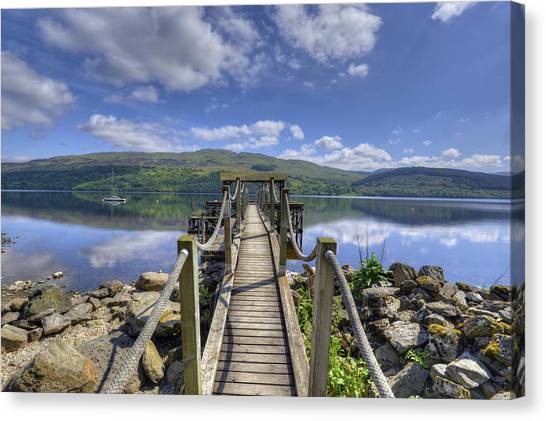 A Dock Out To Loch Tay Canvas Print