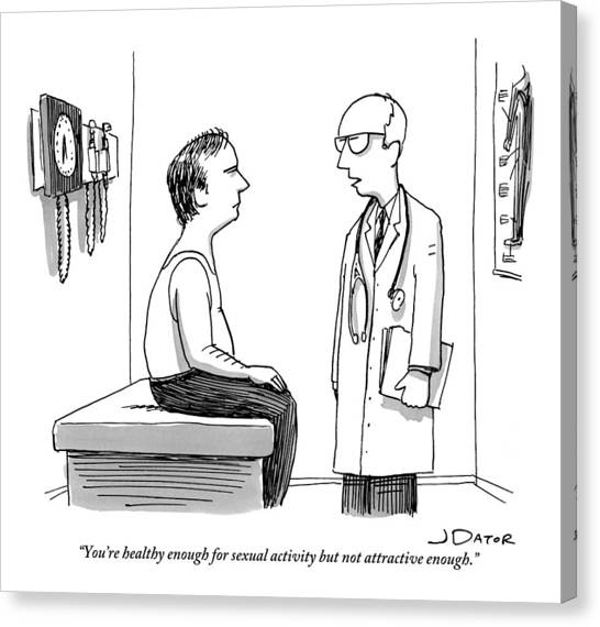 A Doctor Explains To His Male Patient Canvas Print