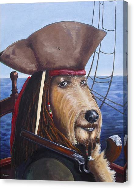 A Doodle On The High Seas Canvas Print