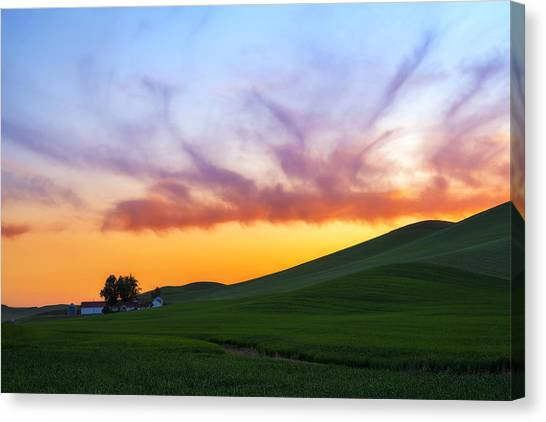 A Dragon's Sunset Canvas Print