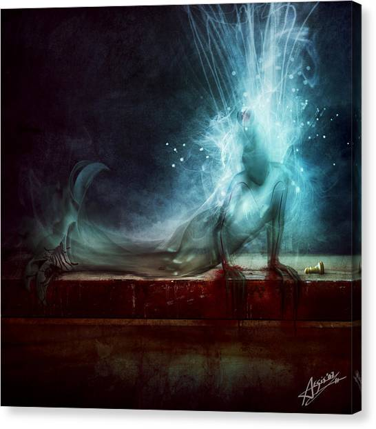 Death Canvas Print - A Dying Wish by Mario Sanchez Nevado