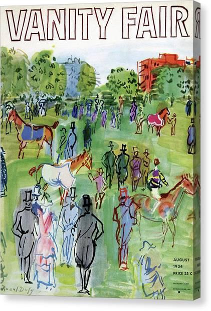 A Equestrian Scene Canvas Print
