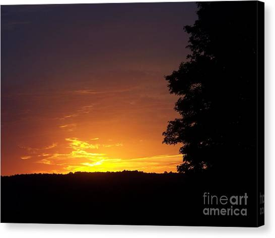 A Fading Sunset Canvas Print by Steven Valkenberg