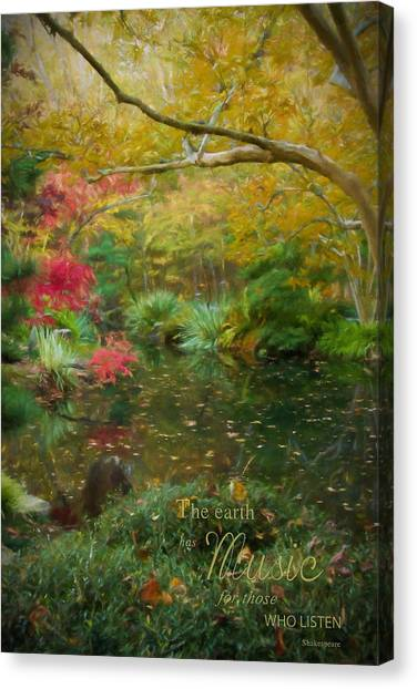 A Fall Afternoon With Message Canvas Print